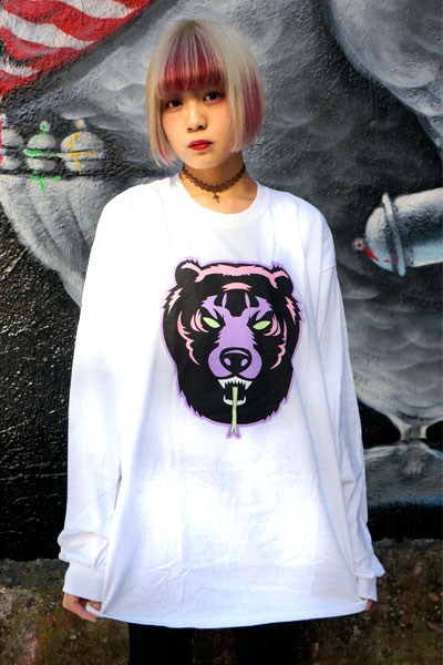 MISHKA(ミシカ) DEATH ADDER L/S TEE (WHITE/FL171102LSWHT)