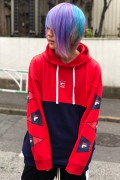 FILA FM9537 PULLOVER HOODIE FLAME RED