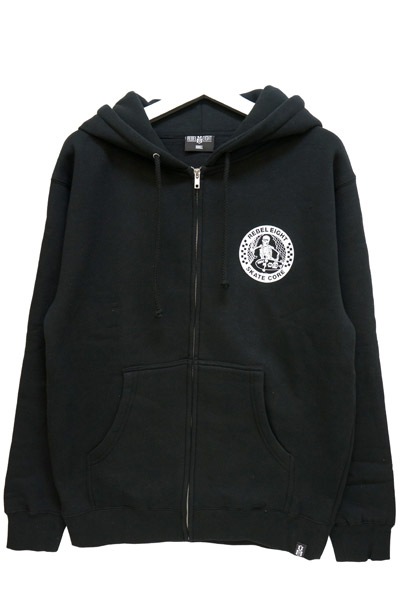 REBEL8 SKATE CORE ZIP-UP HOODIE