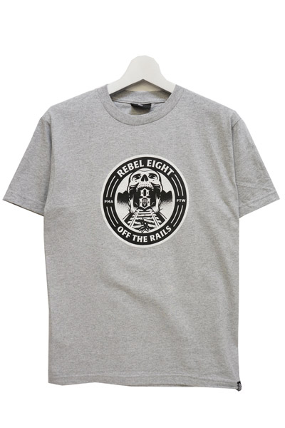 REBEL8 OFF THE RAILS GREY TEE