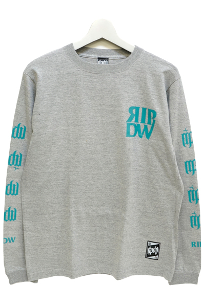 RIP DESIGN WORXX RIPDW LOGO LONG T-SHIRT(グレーミント)