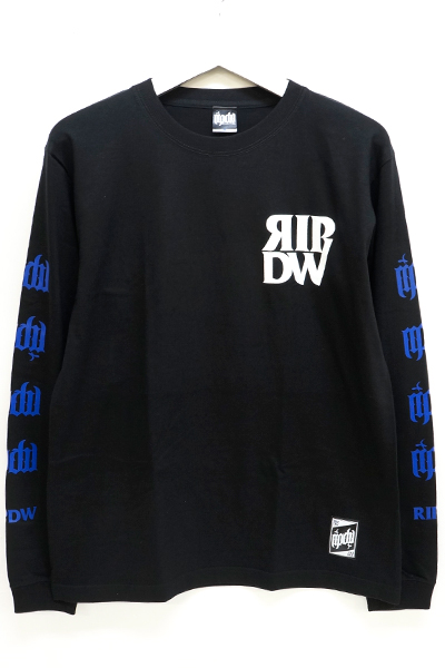 RIP DESIGN WORXX RIPDW LOGO LONG T-SHIRT(ブラックブルー)