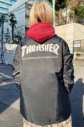 THRASHER TH8901C MAG LOGO COACH JKT BLK