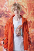 "LILWHITE(dot) LW-19SS-J01 ""X-RAY"" MESH TRACK JKT ORANGE"