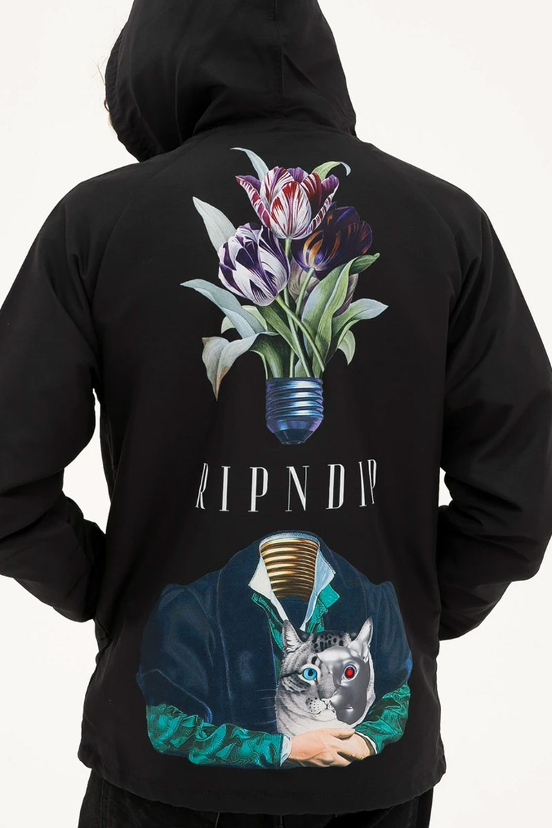 RIPNDIP Lights Out Hooded Coaches Jacket (Black)