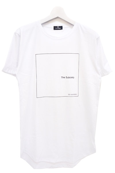 Subciety (サブサエティ) LONG LENGTH TEE S/S-Fab four- WHITE