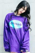【予約商品】easy as pie L/S T-Shirt Purple