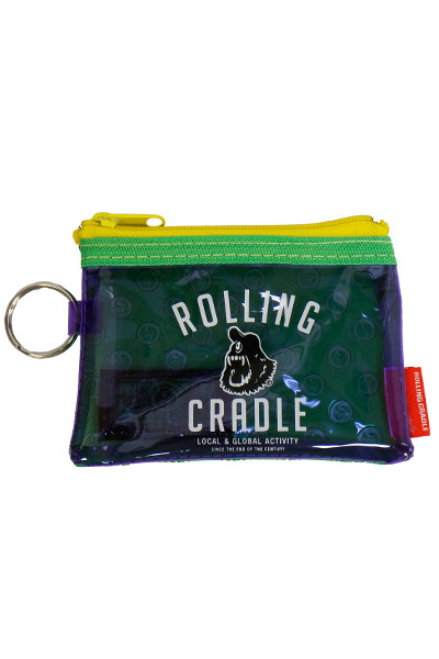 ROLLING CRADLE CYCLOPS SHOUT COIN CASE / Purple-Green