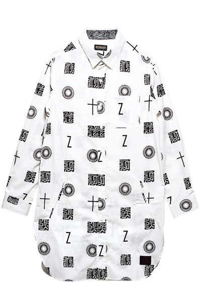 Zephyren(ゼファレン)LONG SHIRT L/S WHITE / 如意宝珠