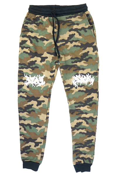 STAY SICK CLOTHING Death Metal Logo Camo Jogger
