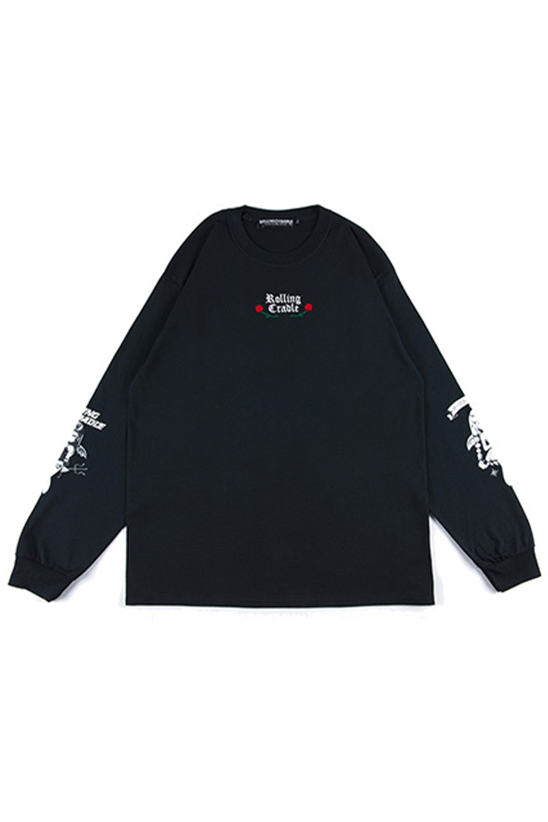 ROLLING CRADLE 天使と悪魔 LONG SLEEVE / BLACK
