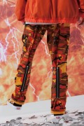 "LILWHITE(dot) LW-19SS-B02 ""TRANSFORM""BACK-ZIP CARGO PANTS ORANGE-CAMO"