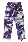 "LILWHITE(dot) LW-19SS-B02 ""TRANSFORM""BACK-ZIP CARGO PANTS PURPLE-CAMO"