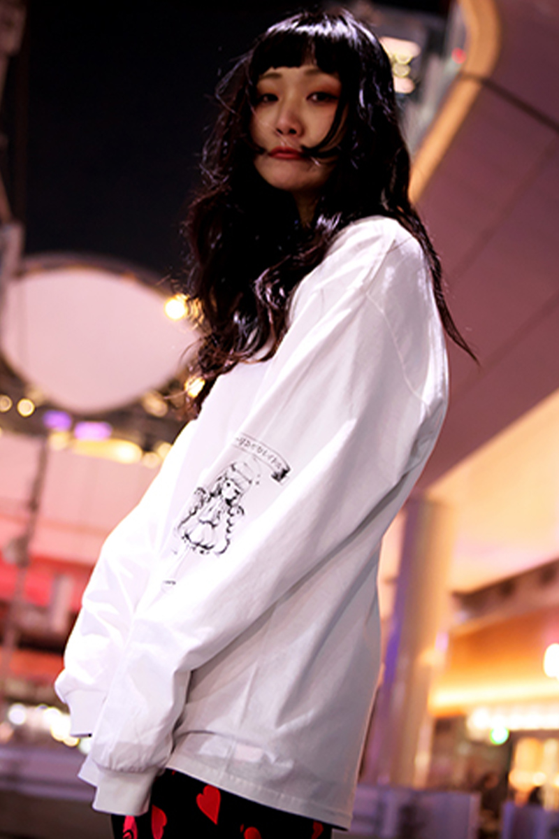 ROLLING CRADLE 天使と悪魔 LONG SLEEVE / WHITE
