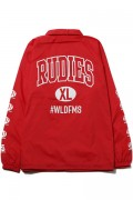 RUDIE'S COLLEGE COACH JACKET RED