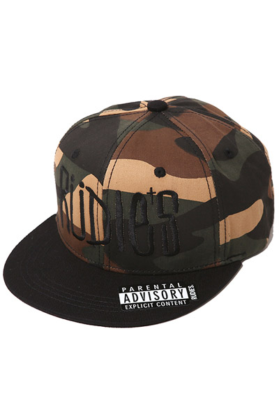 RUDIE'S DRAWING SNAPBACKCAP CAMO/BLACK