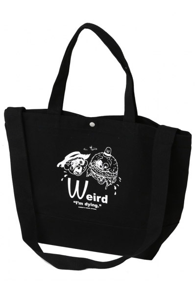 SABBAT13 DYING 2WAY TOTE BAG BLACK