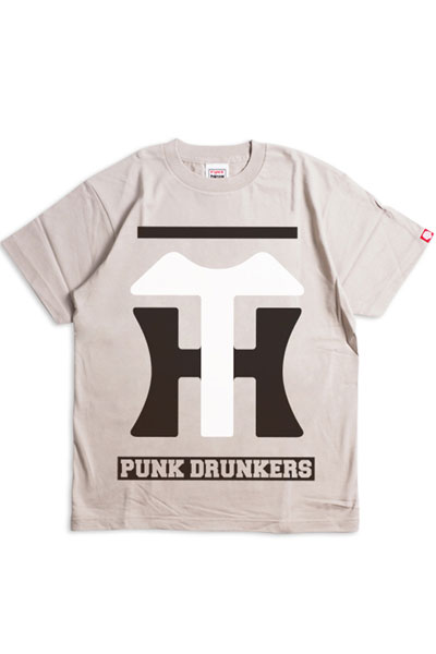 PUNK DRUNKERS PDSx阪神タイガース 阪神ロゴTEE S GRAY