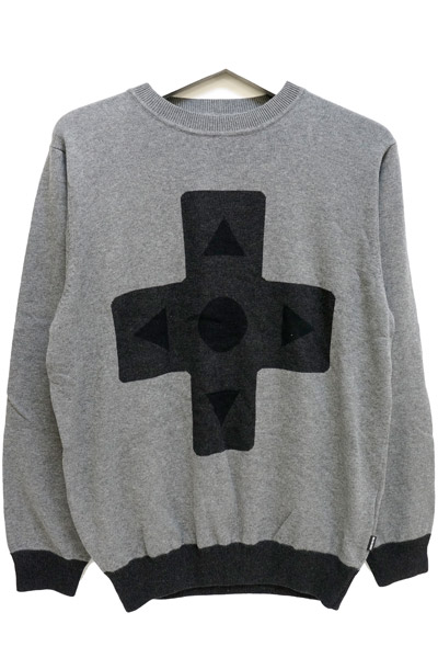 ROLLING CRADLE 16BIT CROSS-KEY KNIT / Black