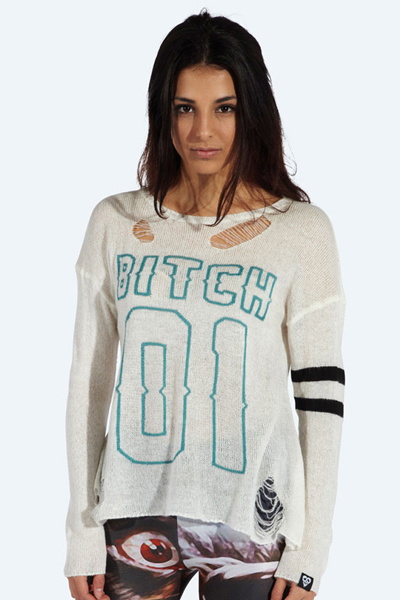 DROP DEAD CLOTHING No.1 Bitch Knitted Sweater