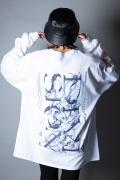 DI:VISION FLOWING LS TEE WHITE