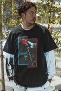 GoneR GR28CT001 Rose Hand T-Shirts Black