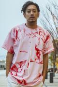 GoneR GR28CT002 Tie-dye Line T-Shirts Light Pink