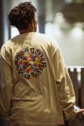 GoneR GR28LS001 Rainbow Rose L/S T-Shirts Sand