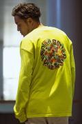 【予約商品】GoneR GR28LS001 Rainbow Rose L/S T-Shirts Safety Green