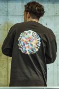 GoneR GR28LS001 Rainbow Rose L/S T-Shirts Black