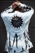 GoneR GR28LS004 Tie-dye Cactus Flower L/S T-Shirts White