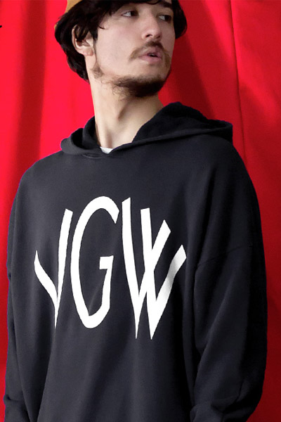 VIRGO BIG VGW DOLMAN HOODIES VG-SWT-105 BLACK