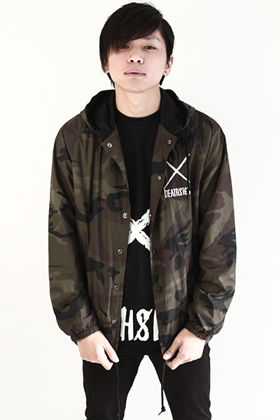 deathsight NYLON CAMO JACKET w/HOODIE
