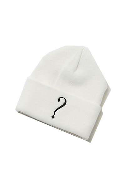 SILLENT FROM ME QUERY -Beanie- WHITE