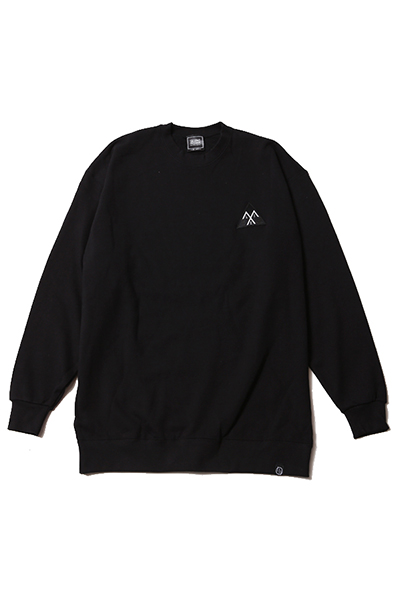 SILLENT FROM ME ALEXIA -Crew Sweat- Black