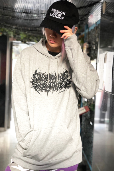 Gluttonous Slaughter (グラトナス・スローター) Gluttonous Slaughter LOGO HOODIE GRAY
