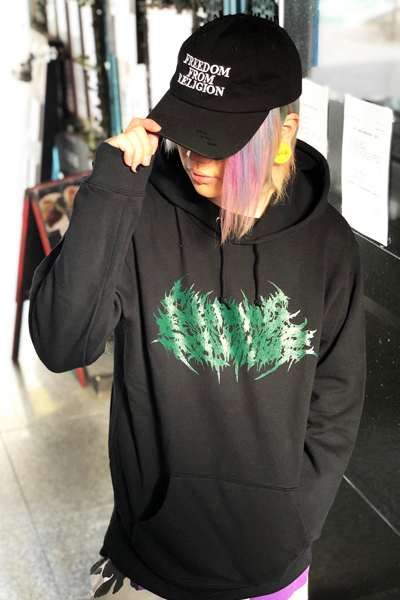 Gluttonous Slaughter (グラトナス・スローター) Logo Hoodie Green
