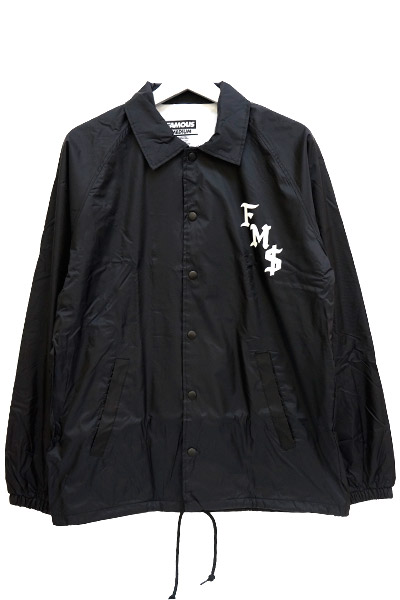 FAMOUS STARS AND STRAPS (フェイマス・スターズ・アンド・ストラップス) FMS SICKSTEP Coaches jacket BLK