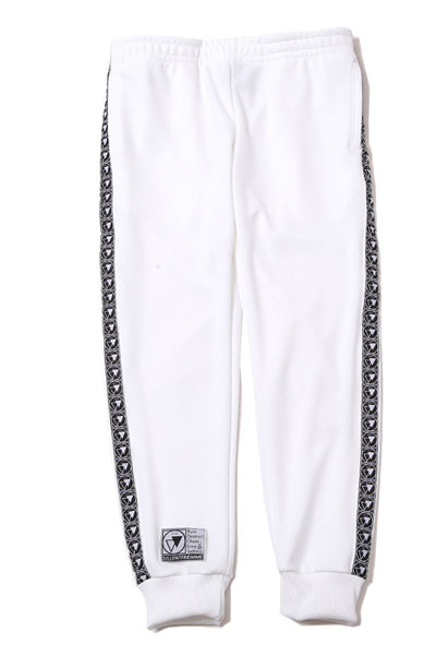 SILLENT FROM ME HOOKY -Cuffed Track Pants- WHITE