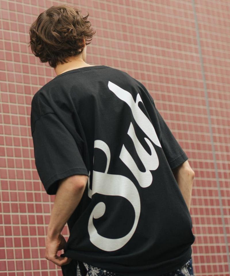 Subciety HYPER BIG TEE -MIDDLE LOGO- BLACK
