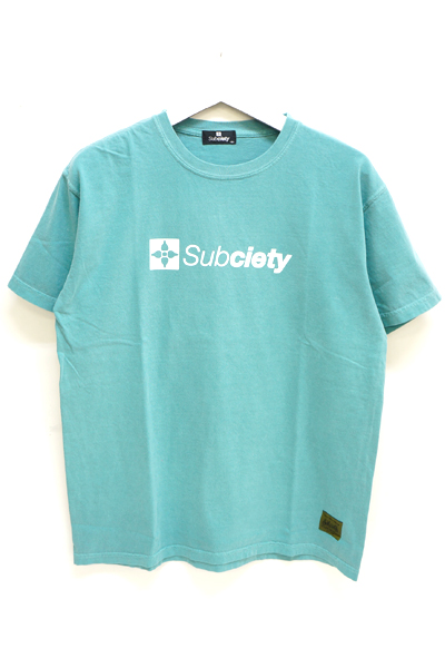 Subciety (サブサエティ) PIGMENT TEE-THE BASE- BLUE