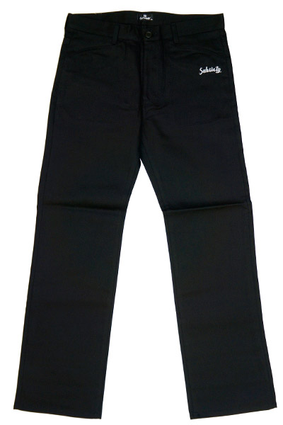 Subciety TAPERED WORK PANTS BLACK