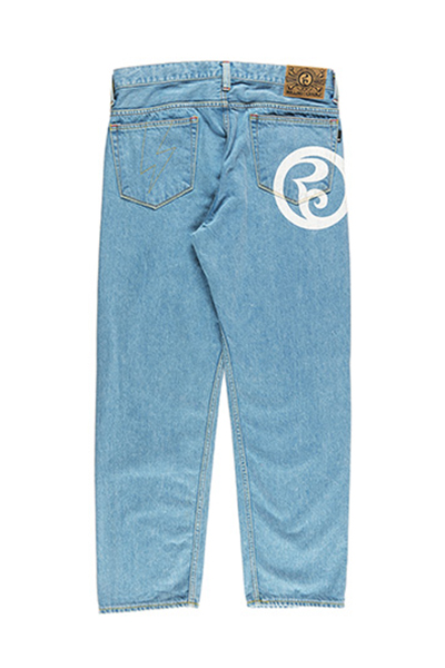 ROLLING CRADLE THUNDER GATE BAGGY DENIM / Blue