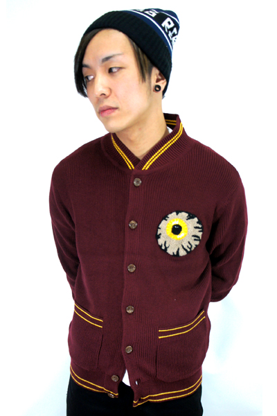 MISHKA (ミシカ) KEEP WATCH CARDIGAN RED BERRY