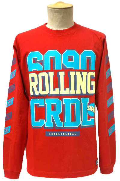 ROLLING CRADLE FREAK OUT LONG Tee / Red