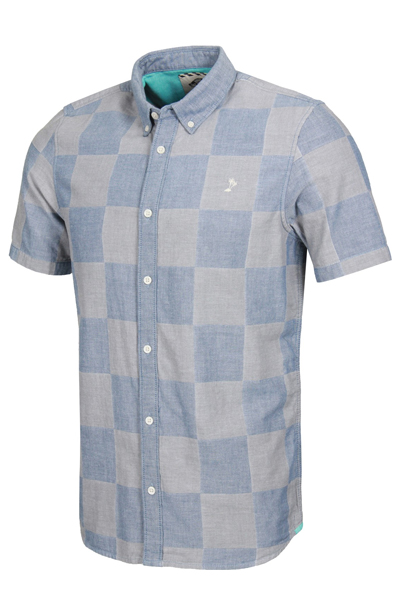 VANS APPAREL CHECKED OUT S/S WOVEN SHIRT BLUE