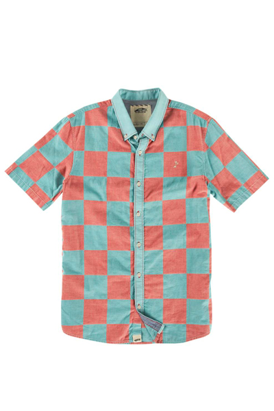 VANS APPAREL CHECKED OUT S/S WOVEN SHIRT RED