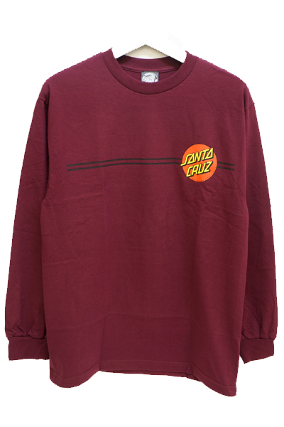 SANTA CRUZ Classic Dot  L/S T-Shirt Burgundy