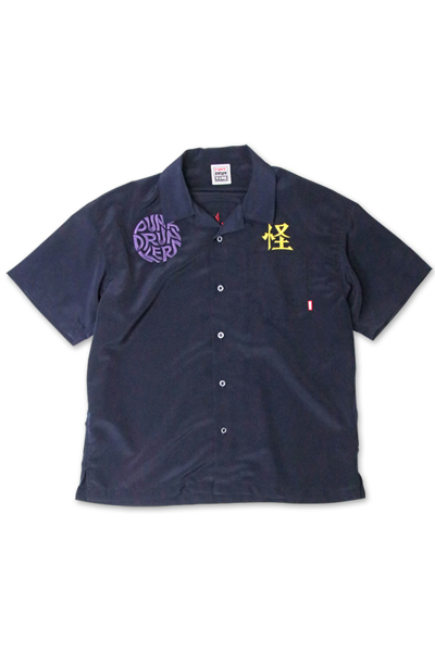 PUNK DRUNKERS 怪奇シャツ NAVY