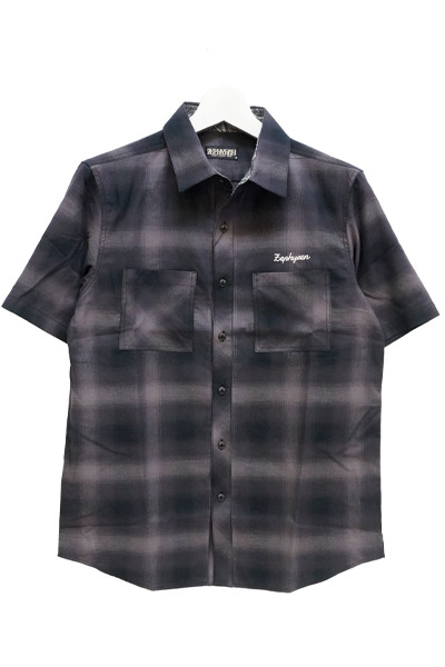 Zephyren(ゼファレン) CHECK SHIRT S/S BLACK
